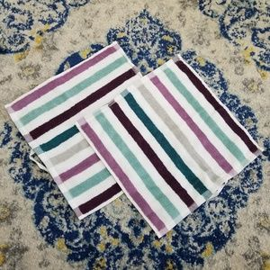 IKEA Bandsjon Washcloth Set 2 Purple Teal Multi